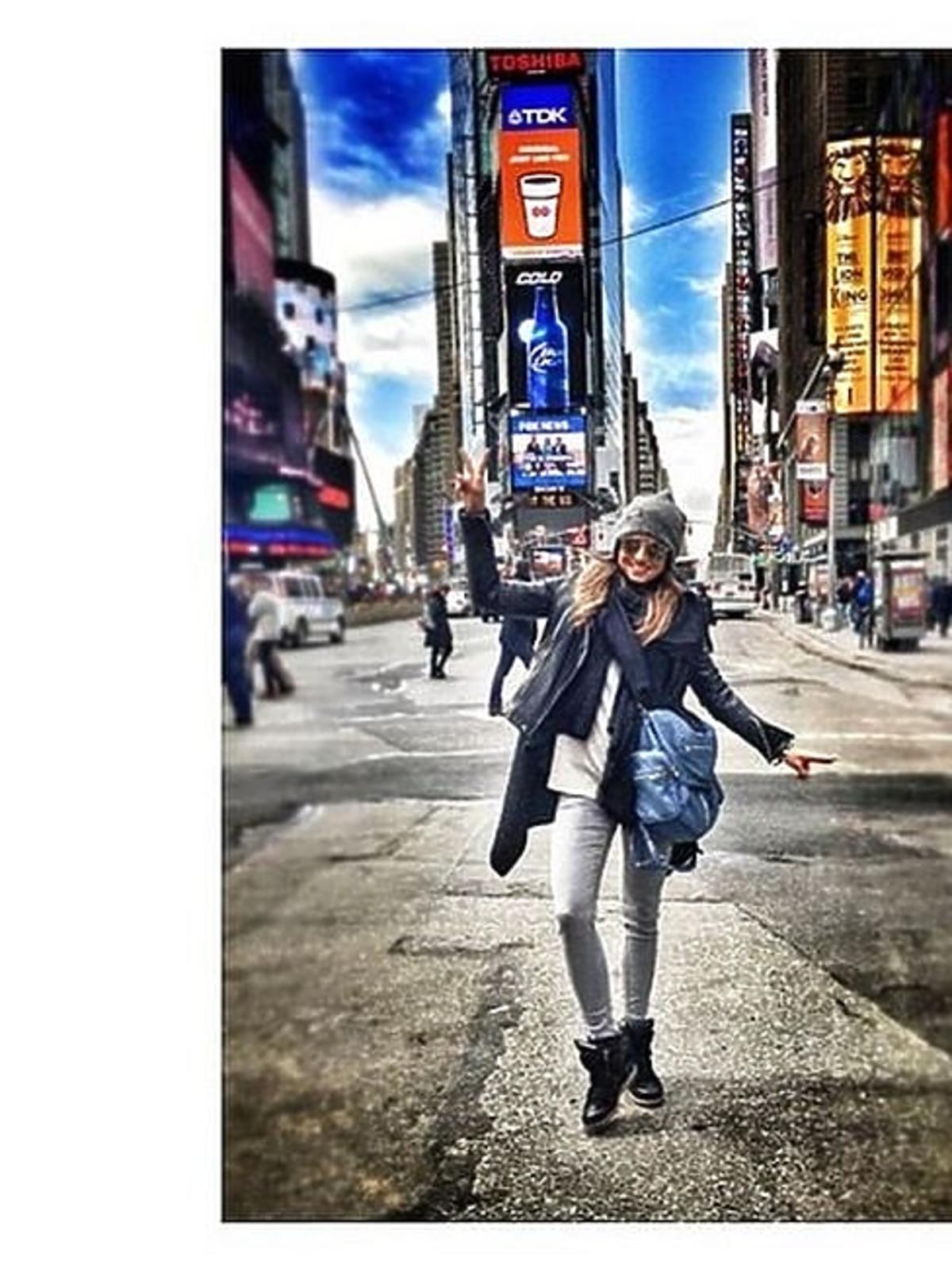 Anna Lewandowska w Nowym Jorku