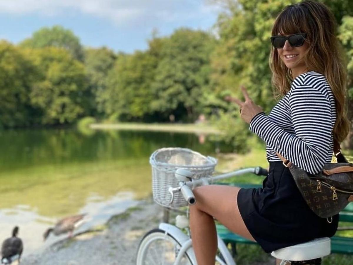 Anna Lewandowska w sandałach Prada