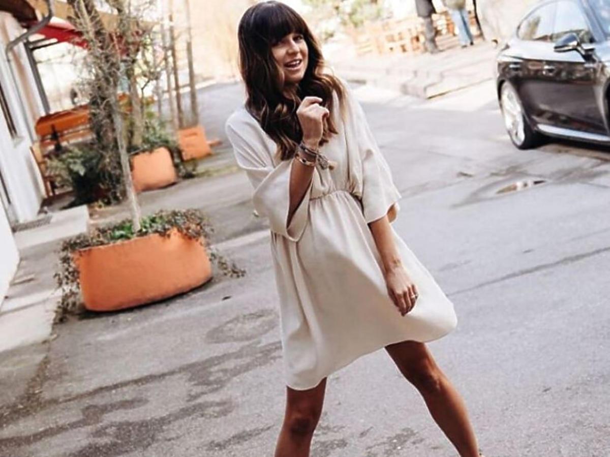 Anna Lewandowska w sukience z Reserved