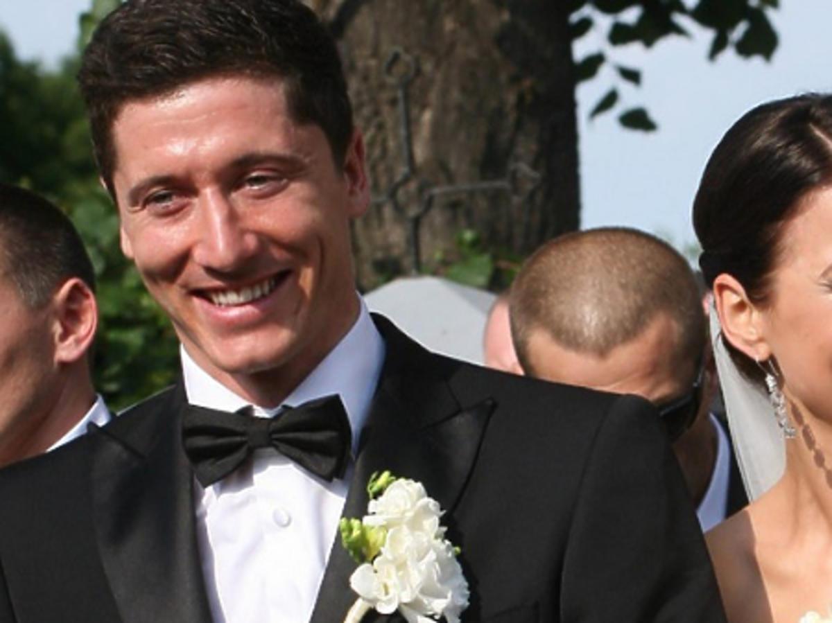 Anna Lewandowska w sukni ślubnej