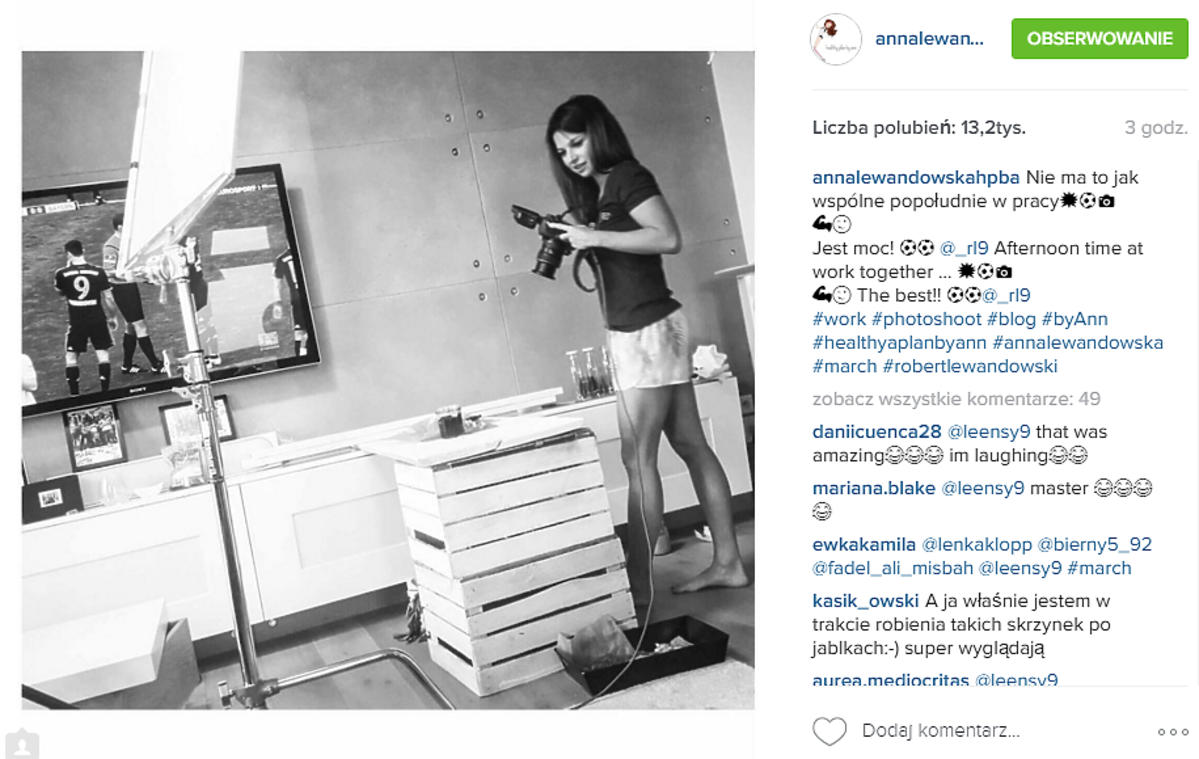 Anna Lewandowska w szortach