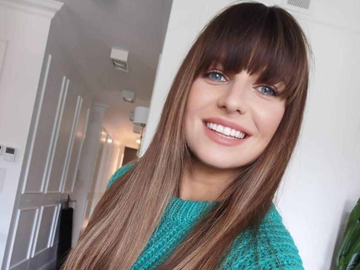 Anna Lewandowska w zielonym swetrze na Instagramie