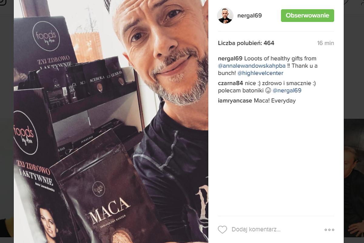 Anna Lewandowska wysłała prezent Nergalowi