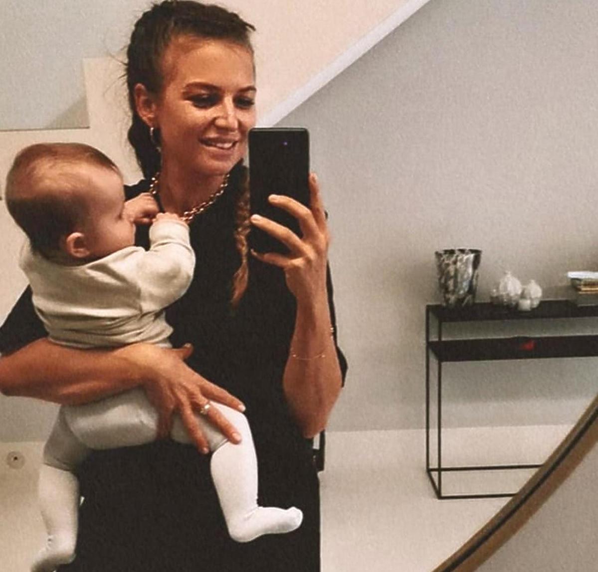 Anna Lewandowska z córką Laurą