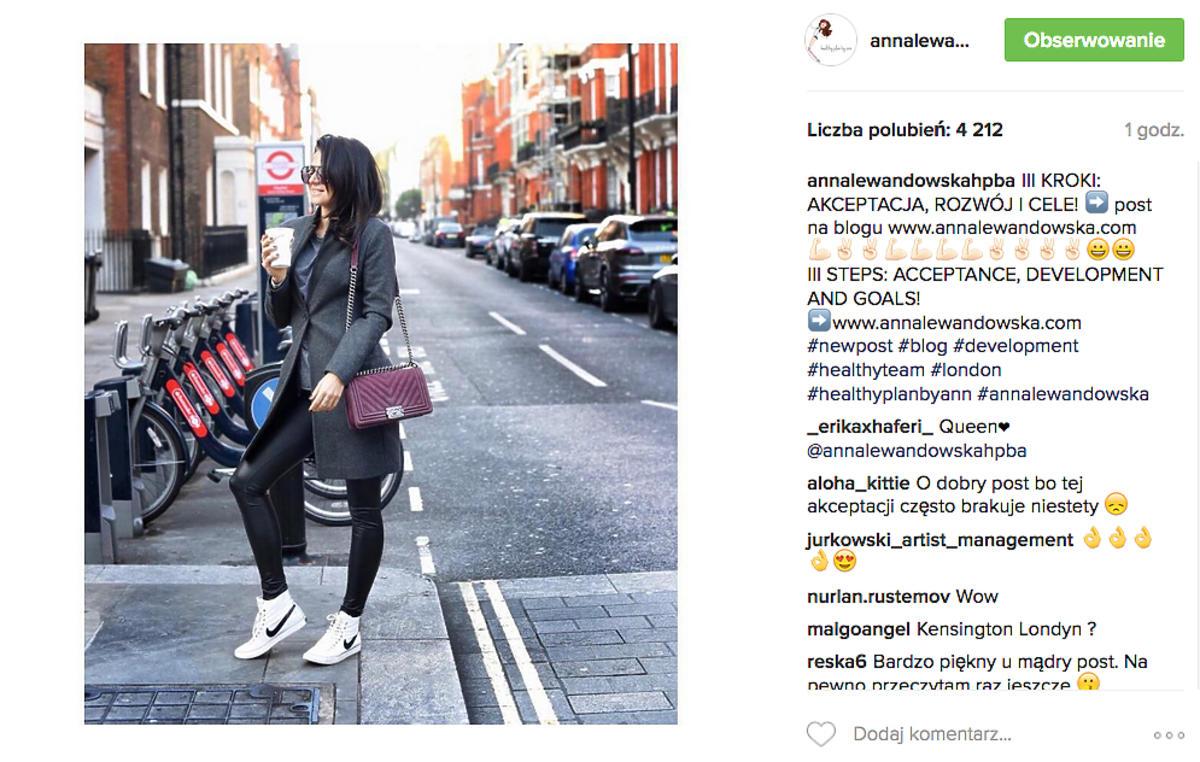 Anna Lewandowska z torbą za 20 tysięcy złotych