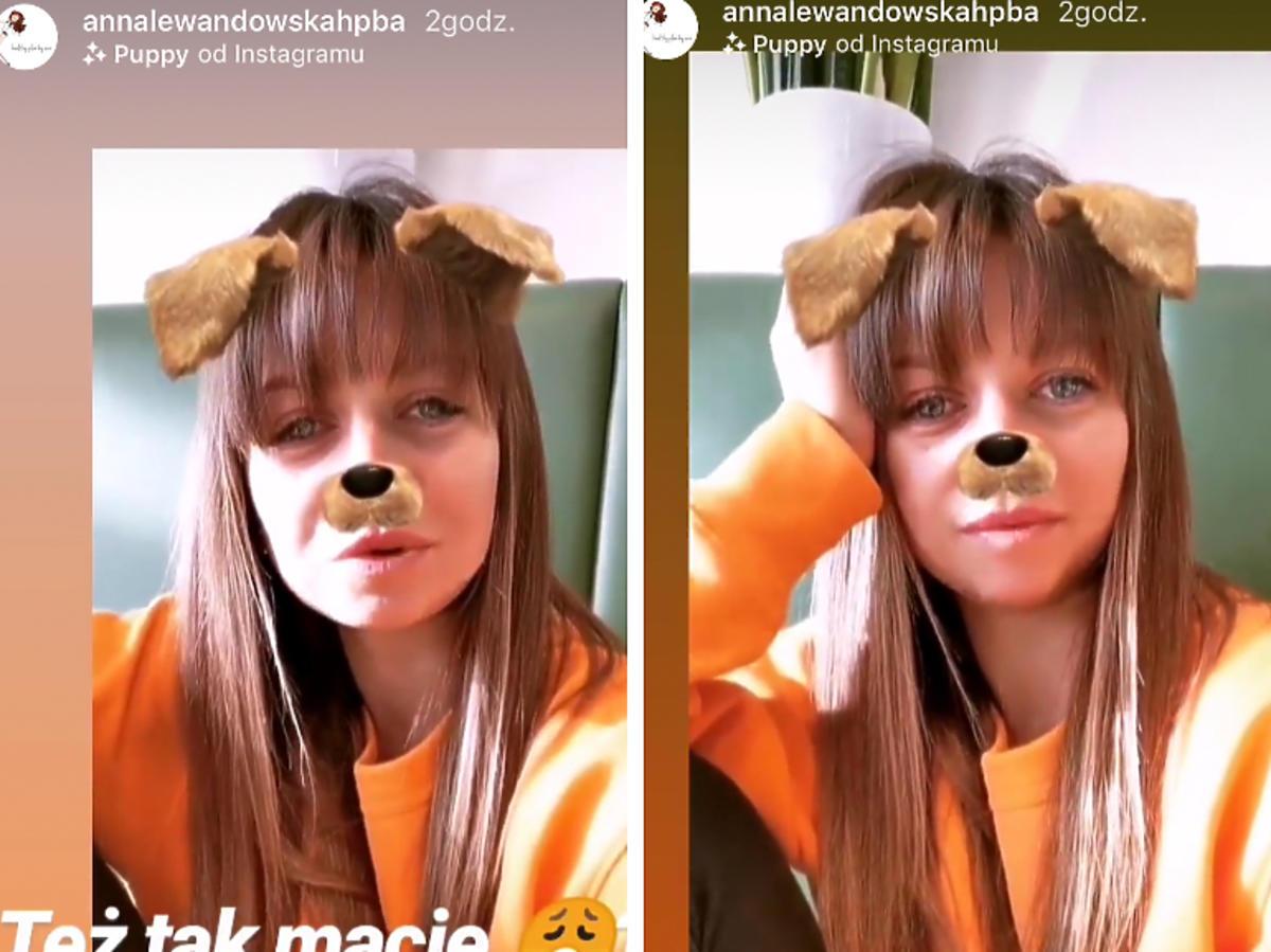 Anna Lewandowska zmęczona po nieprzespanej nocy