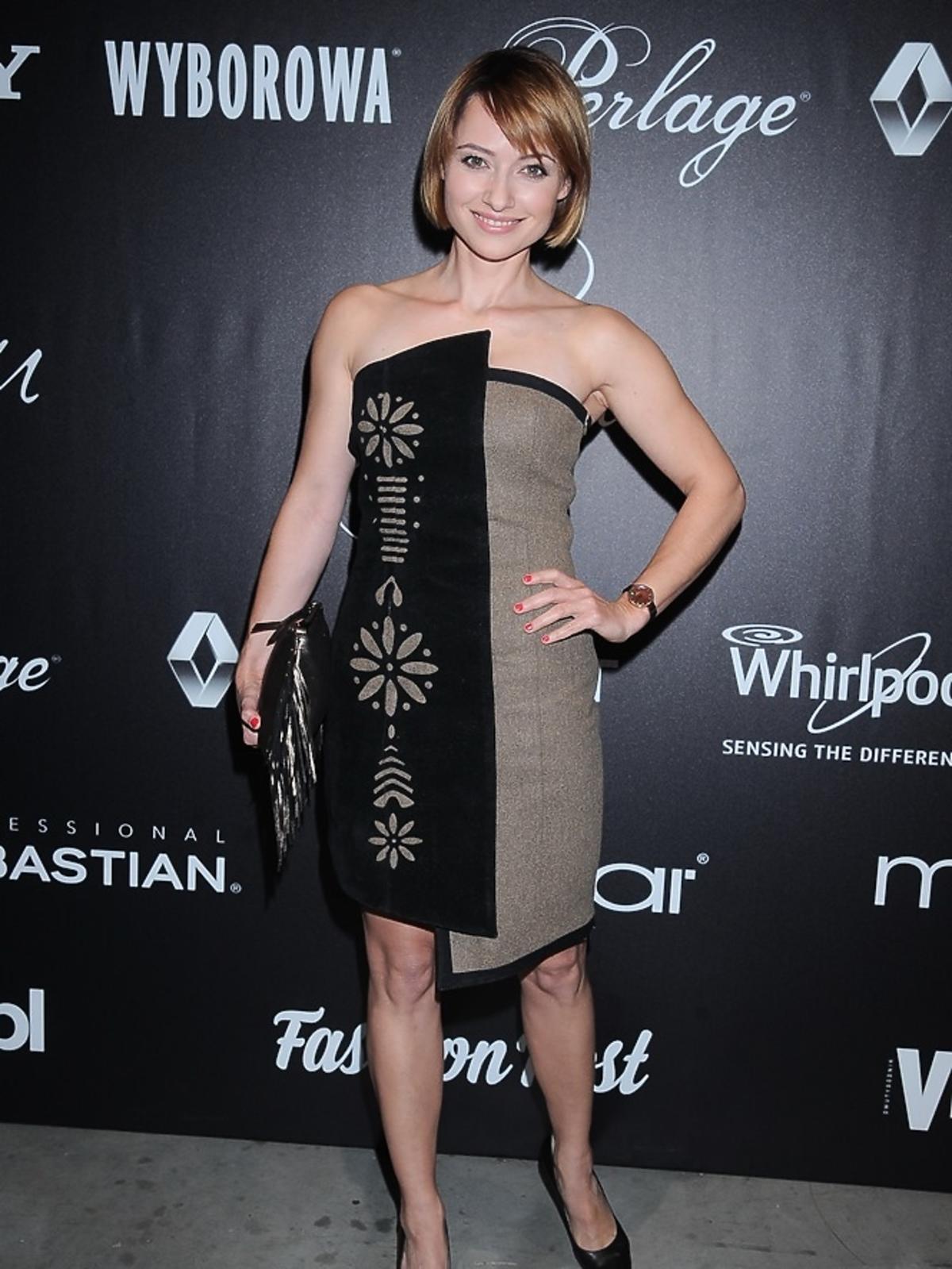 Anna Lipińska w asymetrycznej sukience