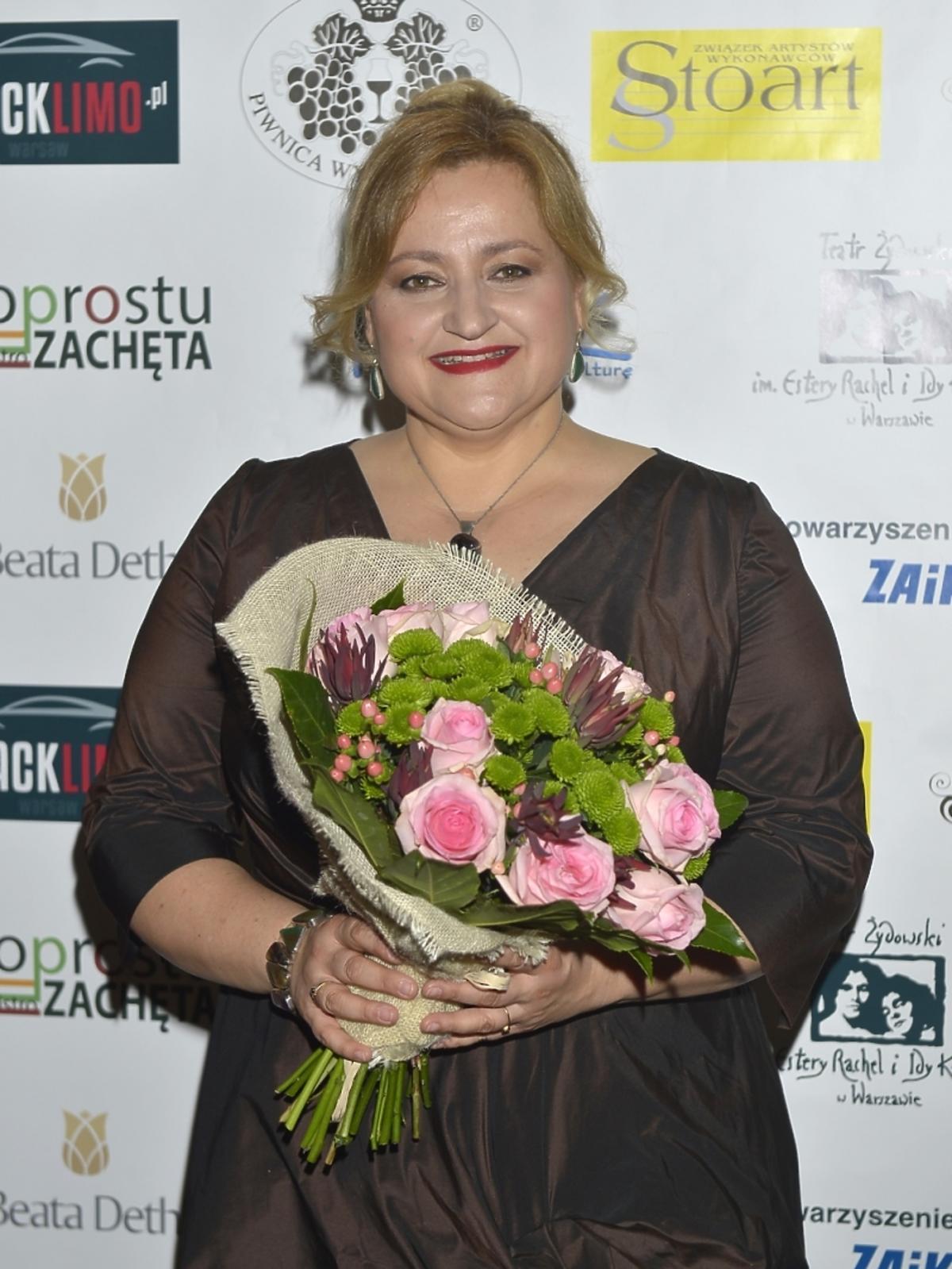 Anna Lubańska na benefisie Danuty Błażejczyk