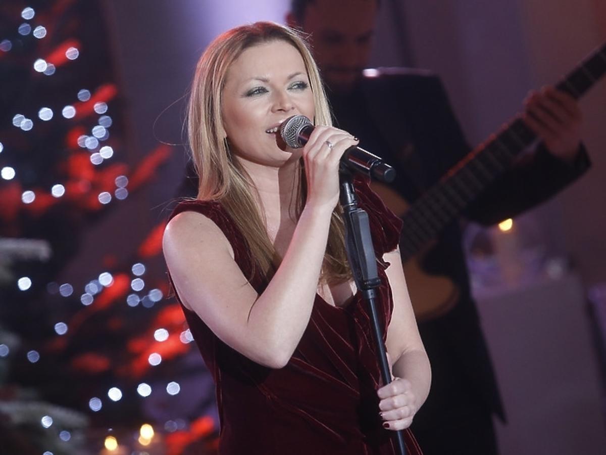 Anna Maria Jopek podczas świątecznego koncertu w Pałacu Prezydenckim