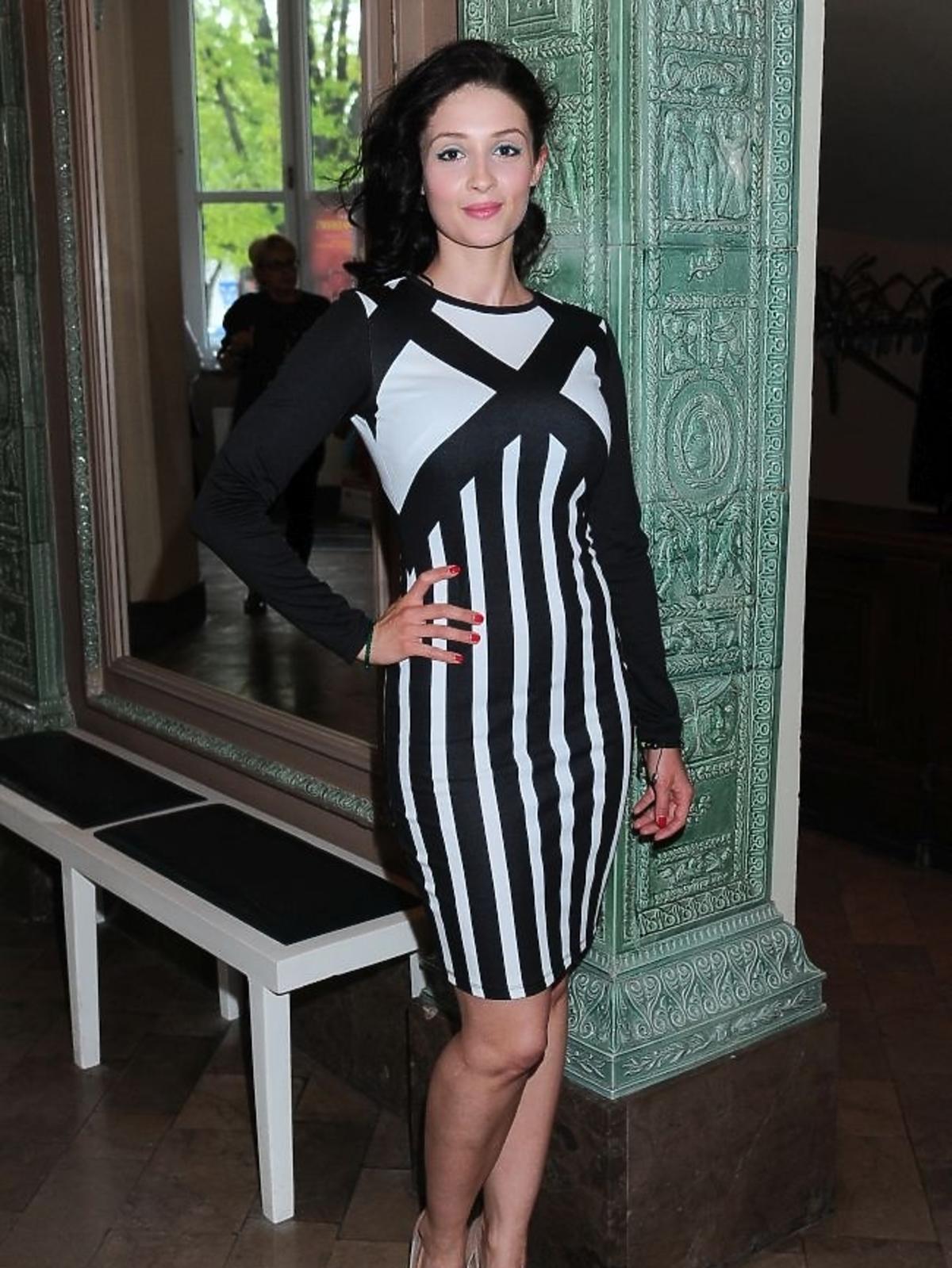 Anna Matysiak na premierze spektaklu Zwariowana terapia