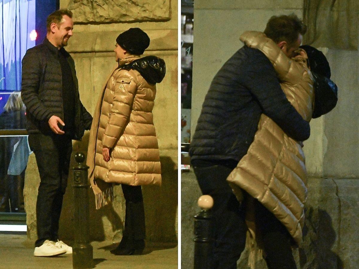 Anna Mucha i Jakub Wons całują się na randce