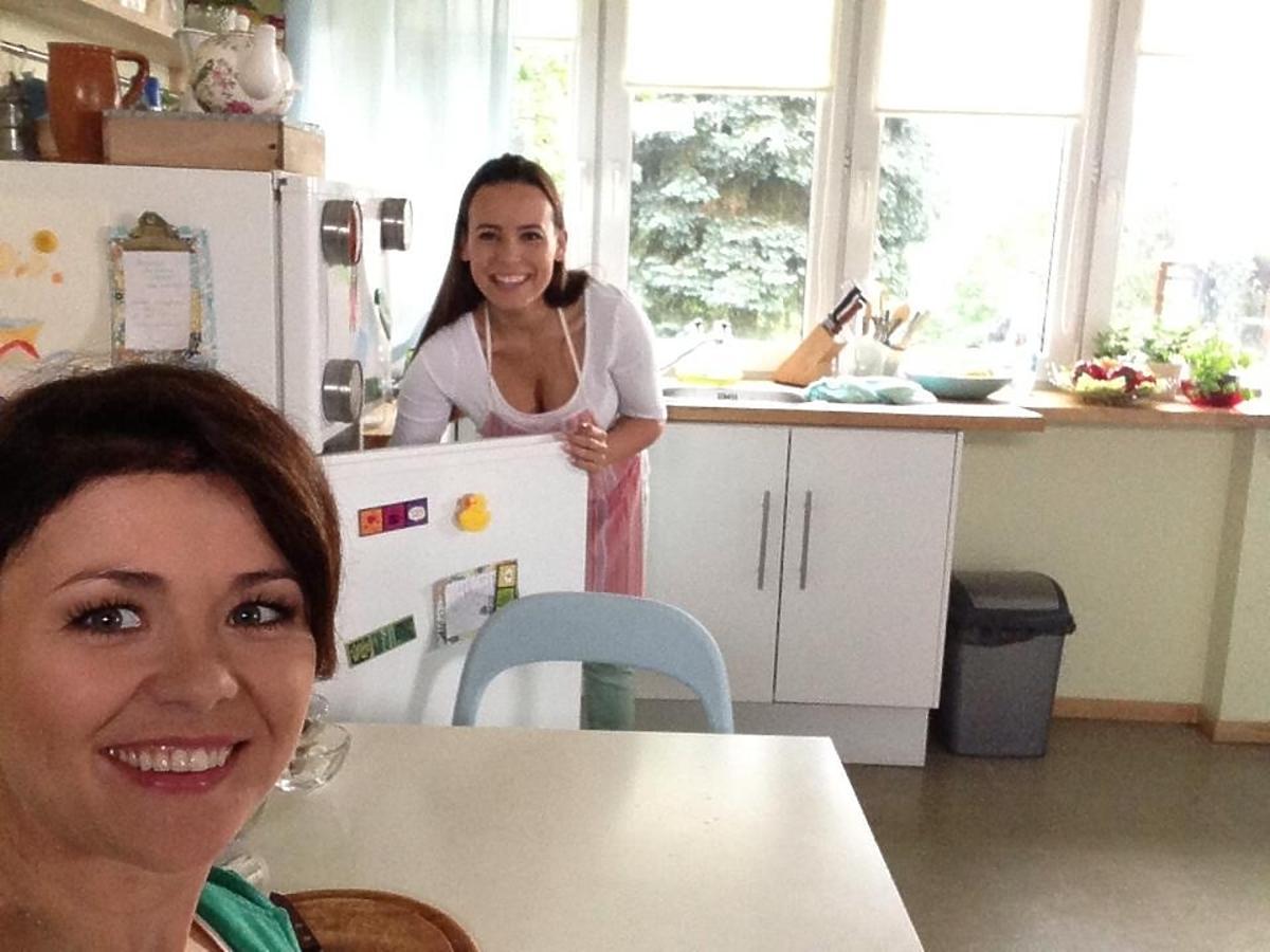 Anna Mucha i Kasia Cichopek w kuchni