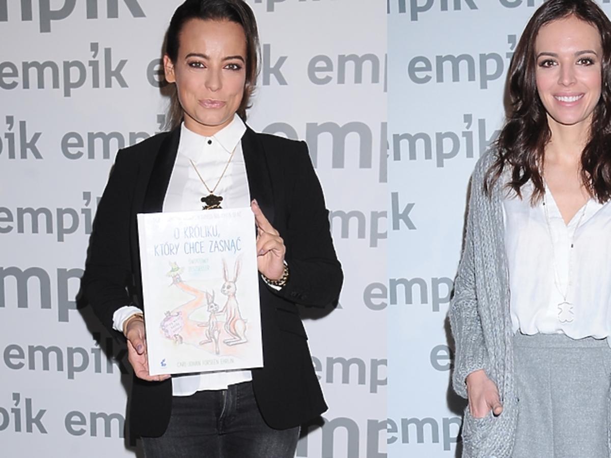 Anna Mucha i Wendzikowska na premierze książki