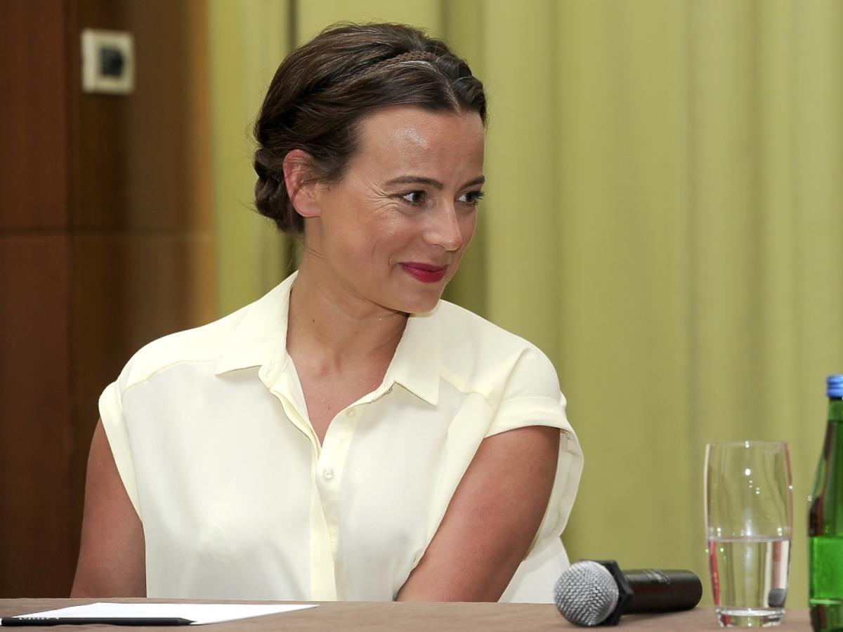 Anna Mucha na konferencji Mercedes-Benz