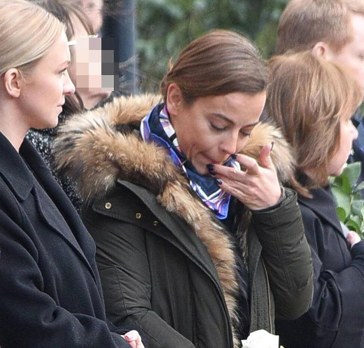 Anna Mucha na pogrzebie Pawła Królikowskiego