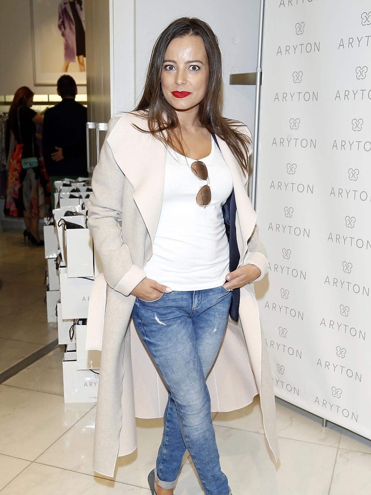 Anna Mucha na pokazie nowej kolekcji marki Aryton