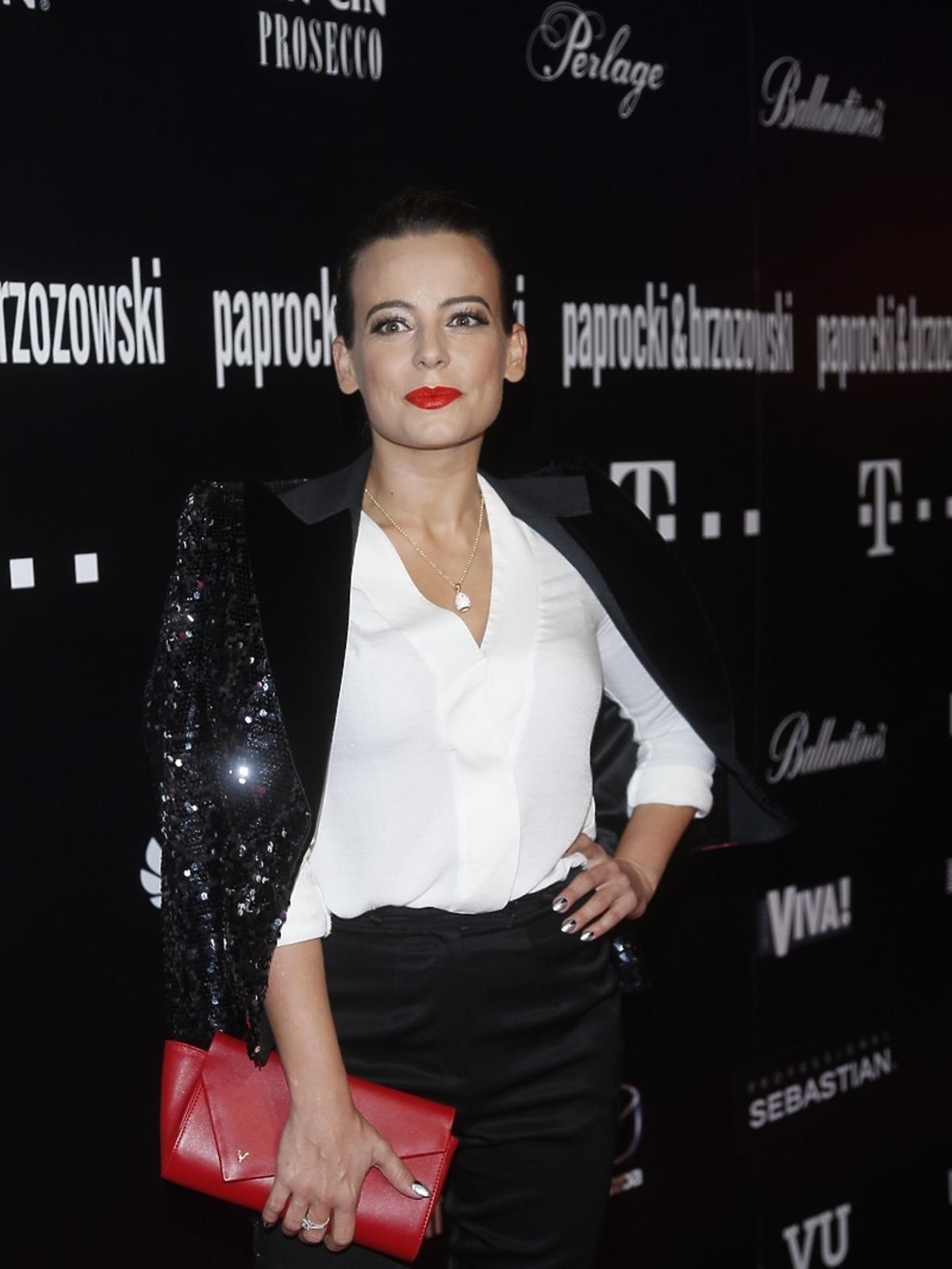 Anna Mucha na pokazie Paprocki&Brzozowski