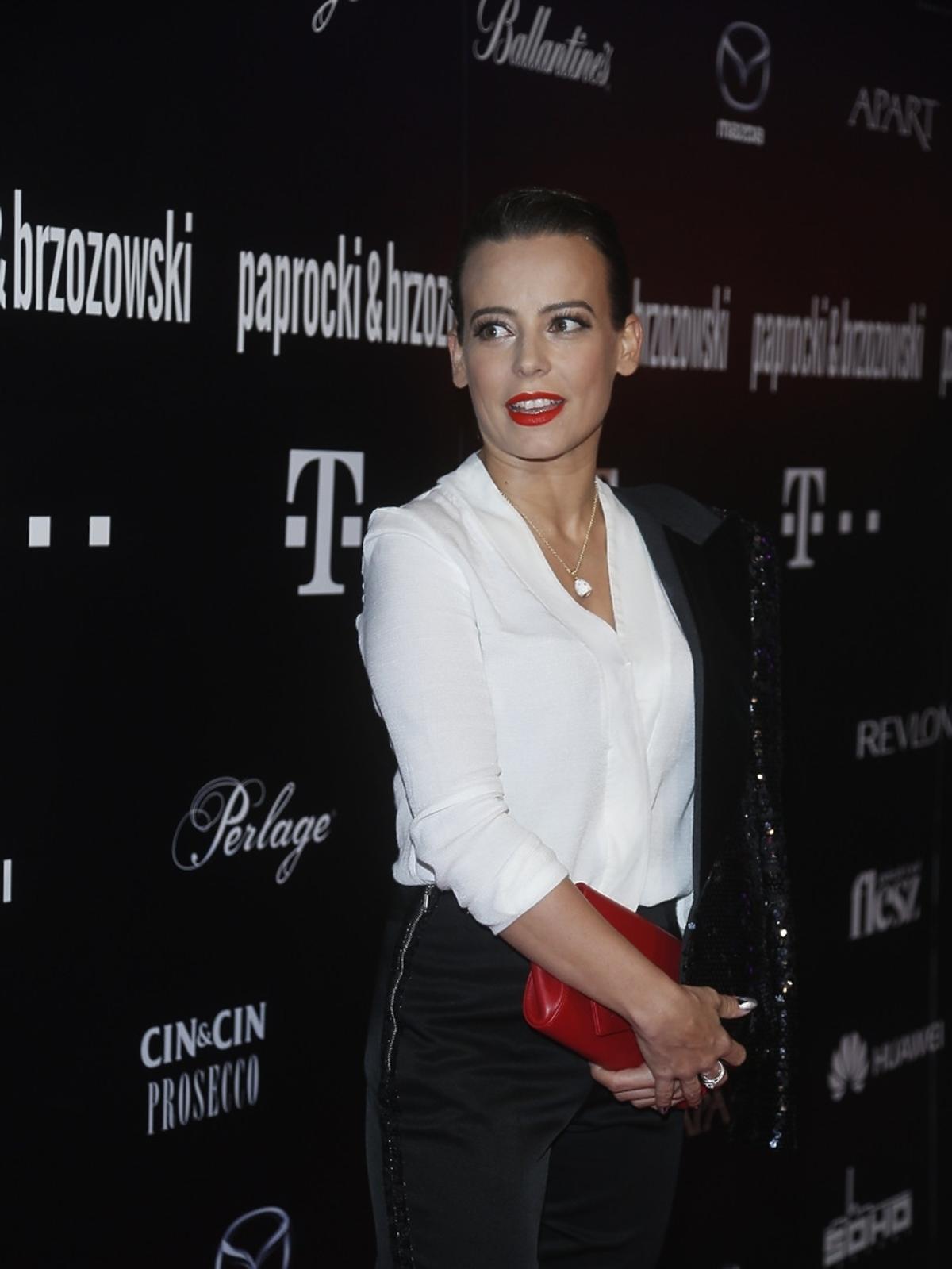 Anna Mucha na pokazie Paprocki&Brzozowskia