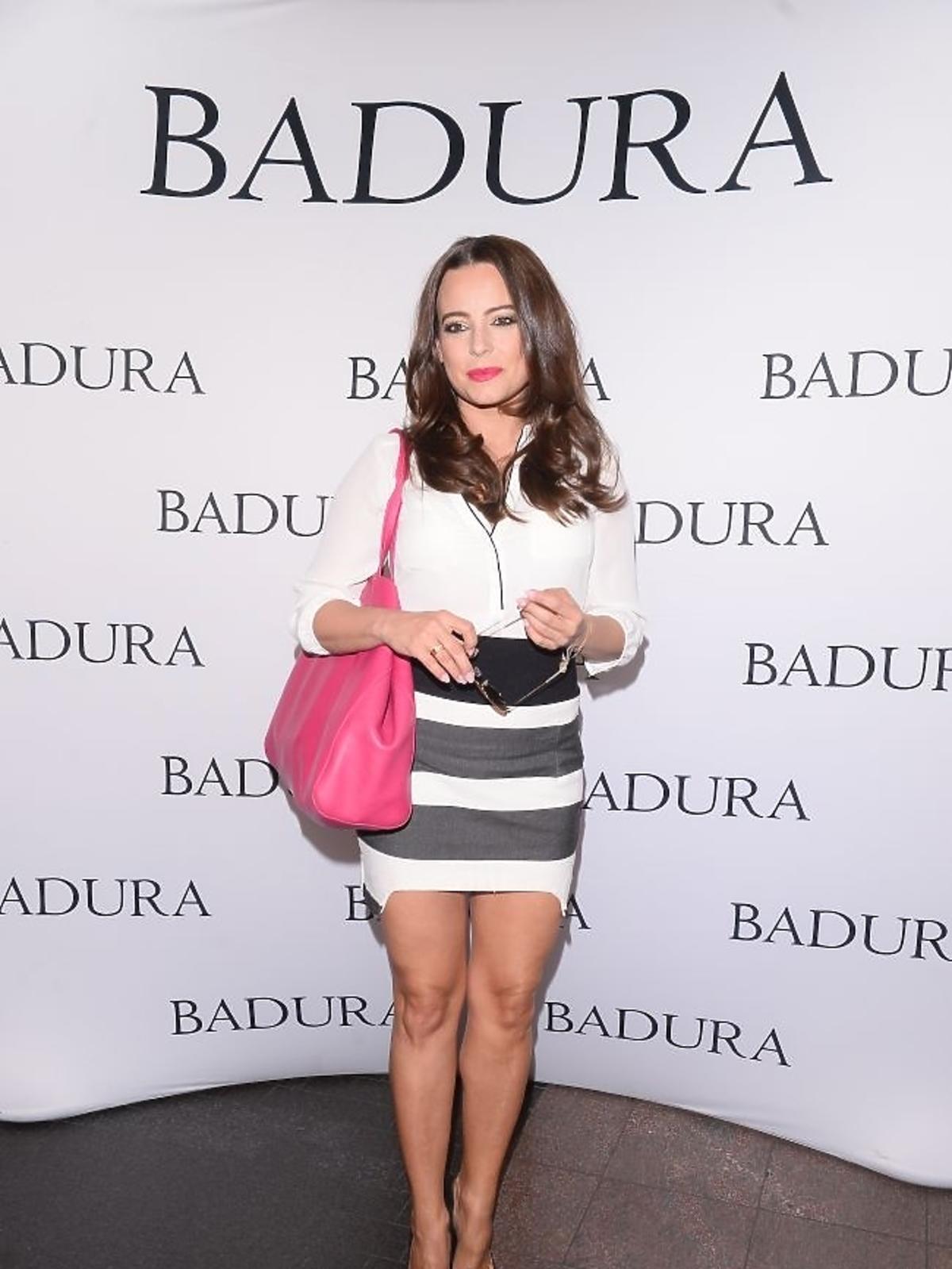 Anna Mucha na prezentacji marki Badura