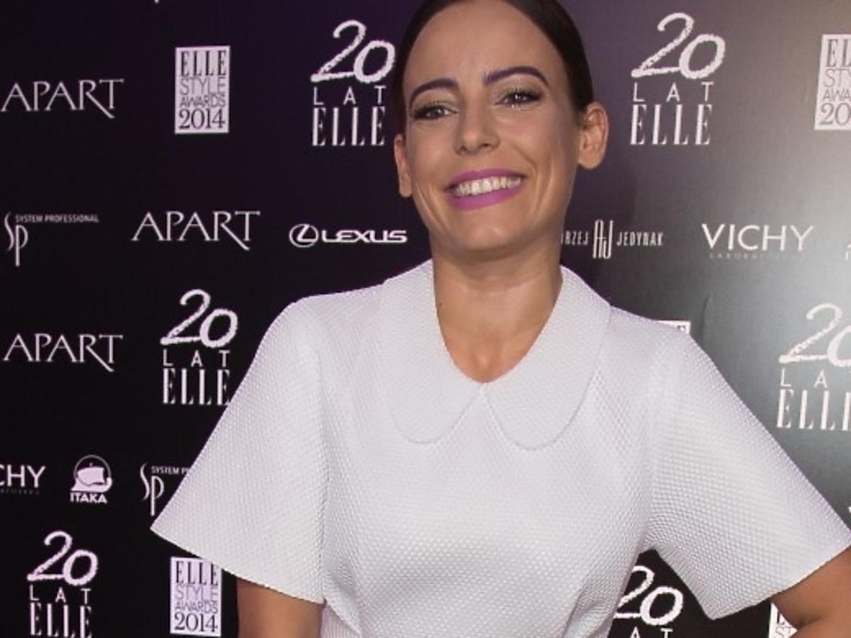 Anna Mucha podczas gali Elle Style Awards