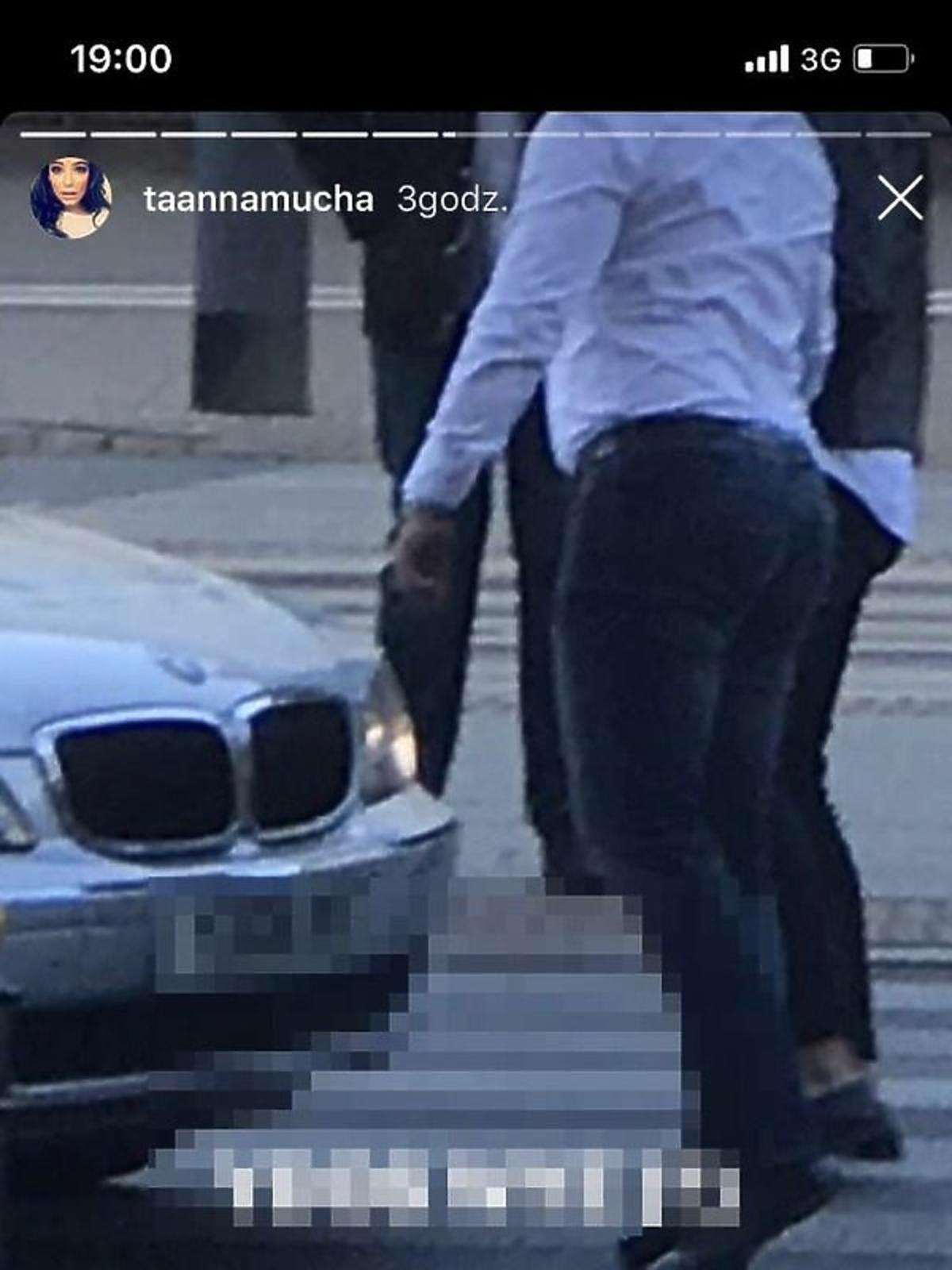 Anna Mucha podczas wypadku drogowego