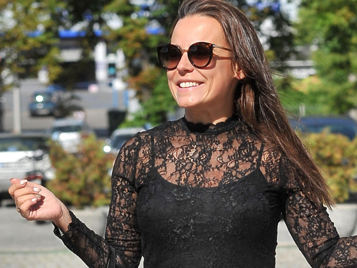 Anna Mucha w tiulowej spódnicy