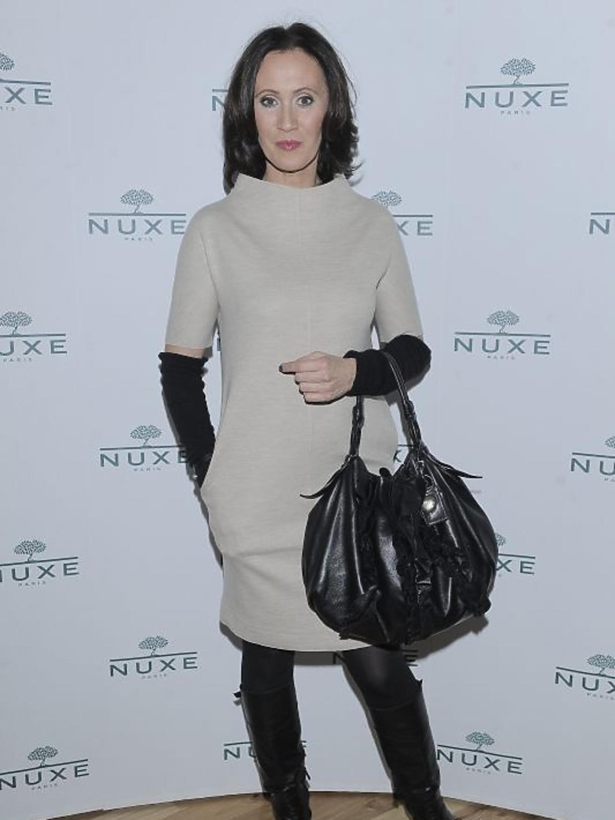 Anna Nowak-Ibisz na konferencji prasowej Nuxe Nuxellence Jeunesse