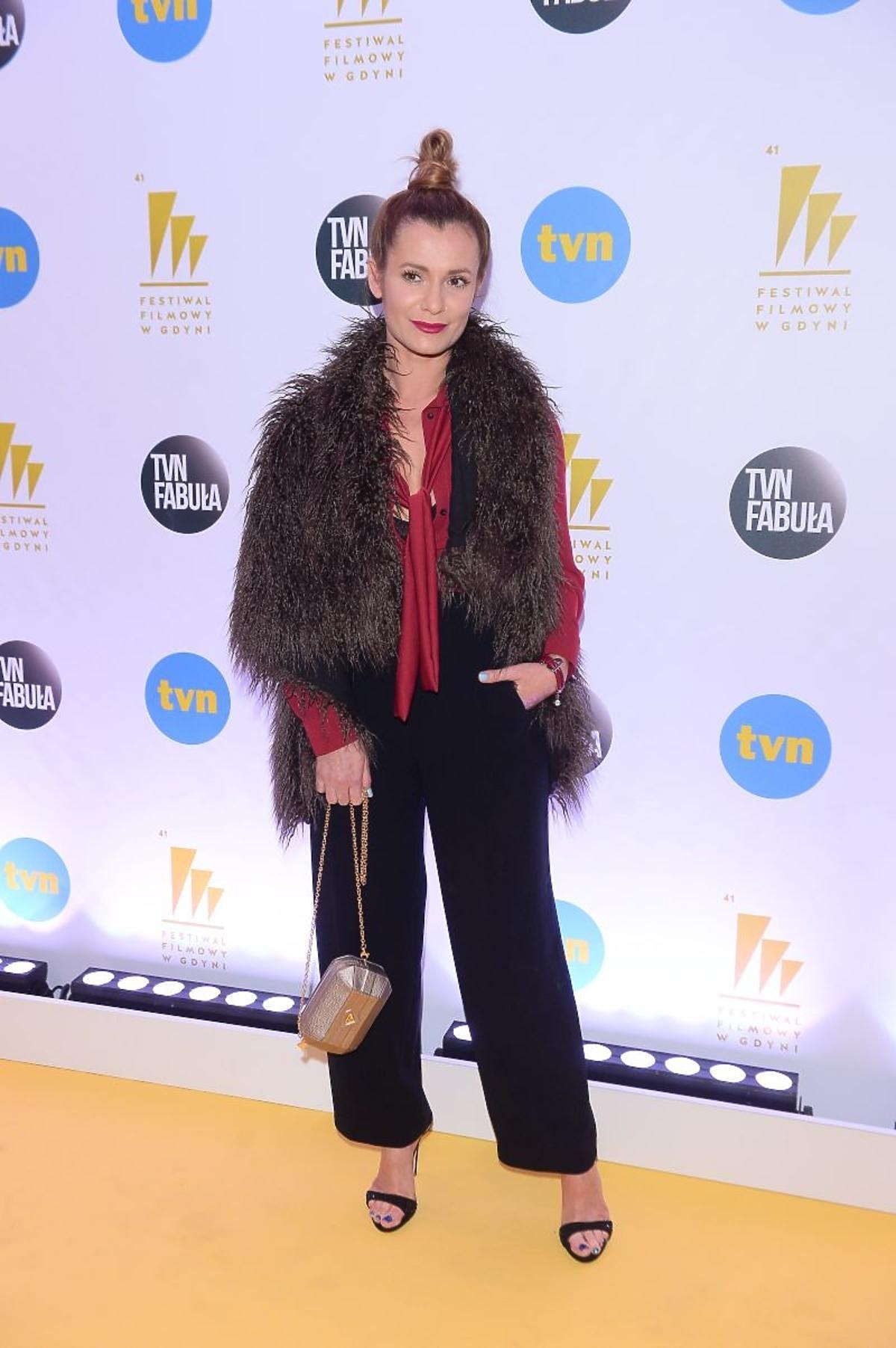 Anna Oberc na imprezie TVN na Festiwalu Filmowym w Gdyni 2016