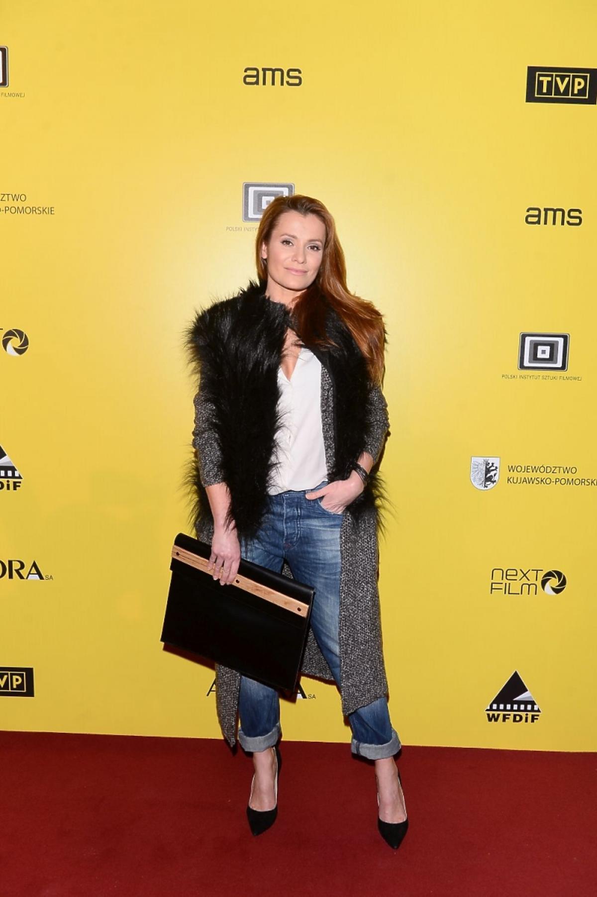 Anna Oberc na premierze filmu