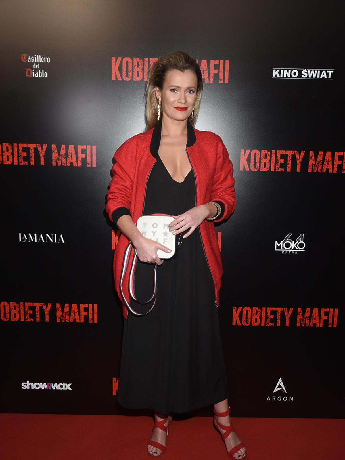 Anna Oberc na premierze Kobiet Mafii