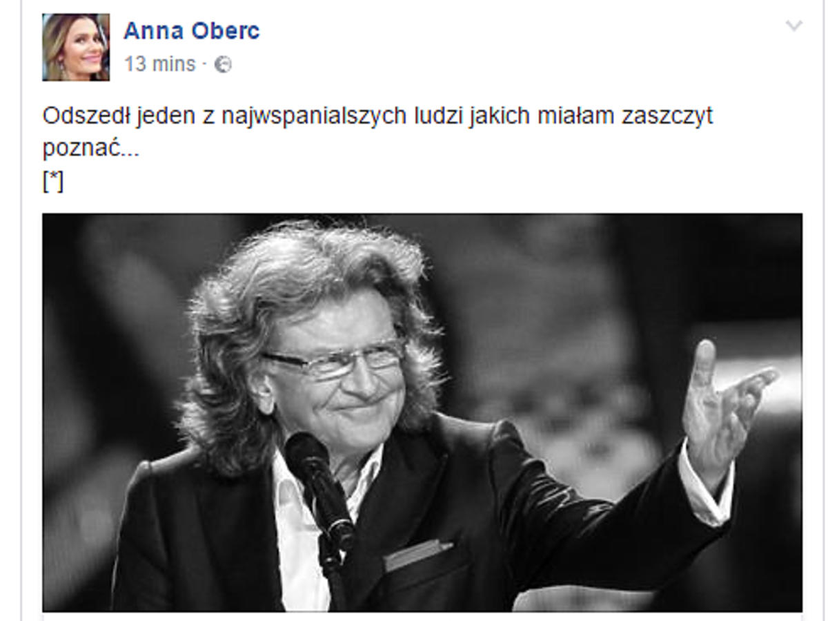 Anna Oberc żegna Zbigniewa Wodeckiego