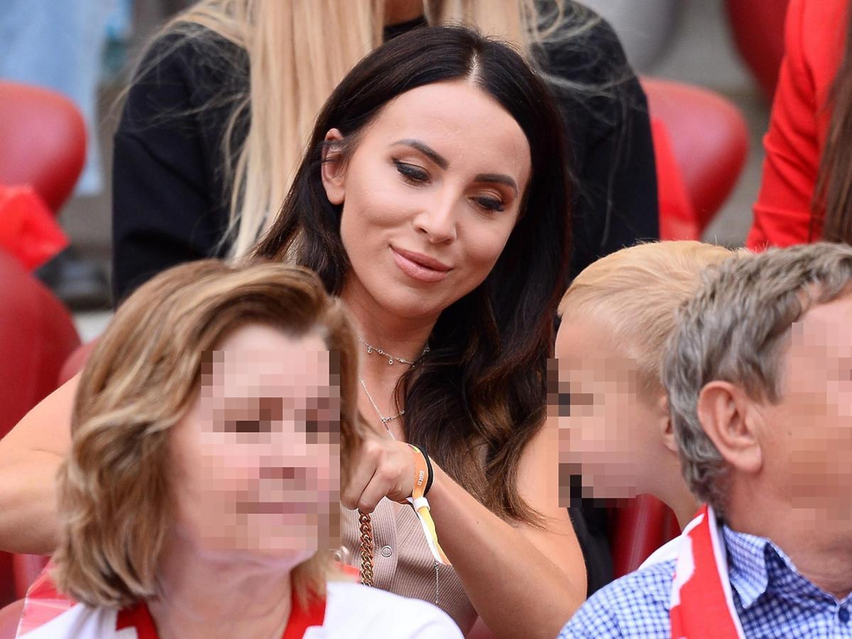 Anna Peszko na meczu Polska-Litwa