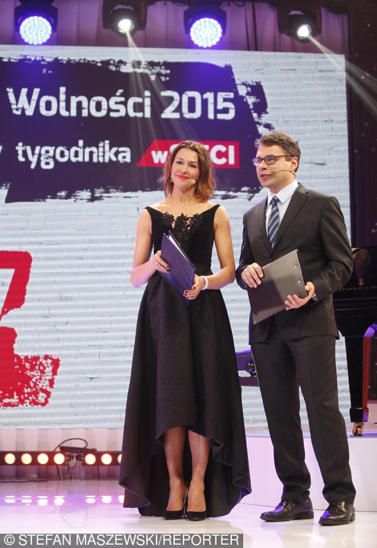 Anna Popek i Jacek Karnowski na gali tygodnika