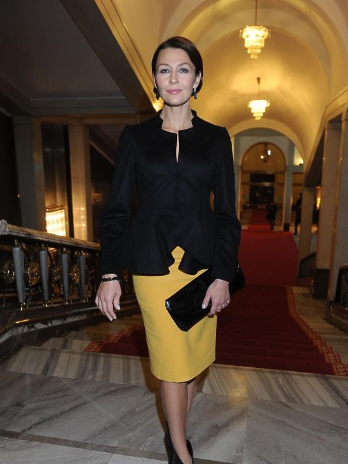 Anna Popek na gali Paszporty Polityki 2012