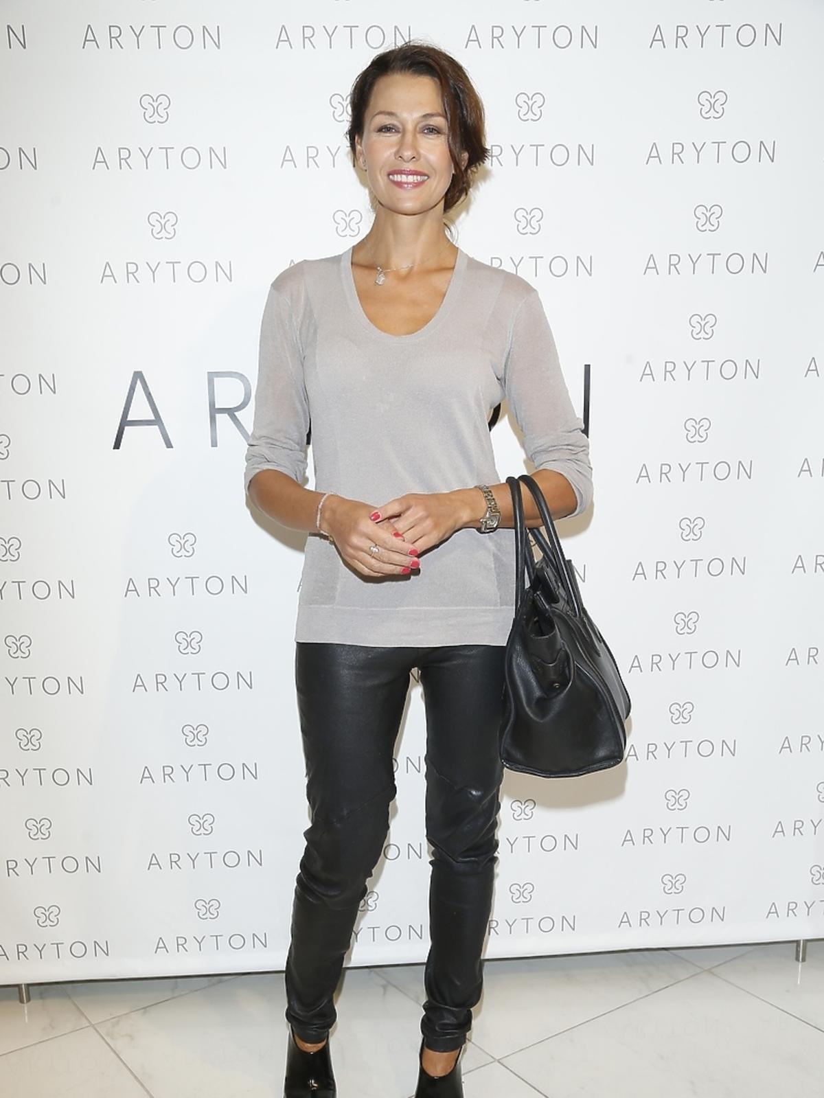 Anna Popek na pokazie nowej kolekcji marki Aryton