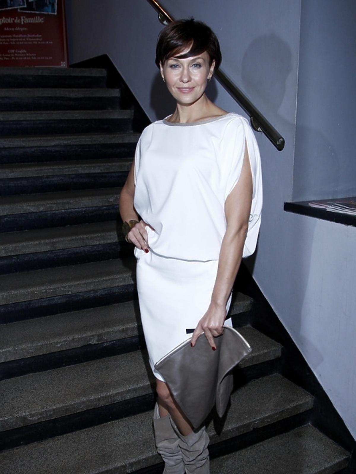 Anna Popek na premierze spektaklu