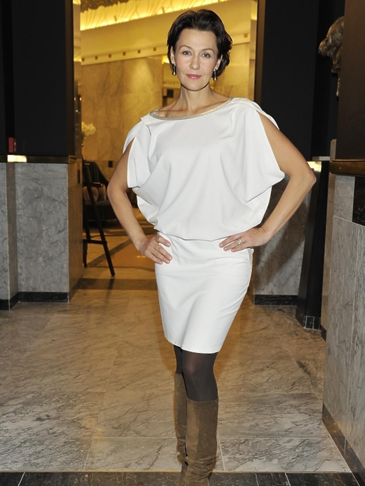 Anna Popek na prezentacji kosmetyków Sisley