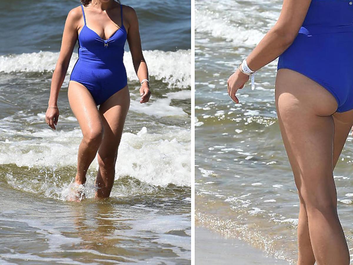 Anna Popek w kostiumie kąpielowym