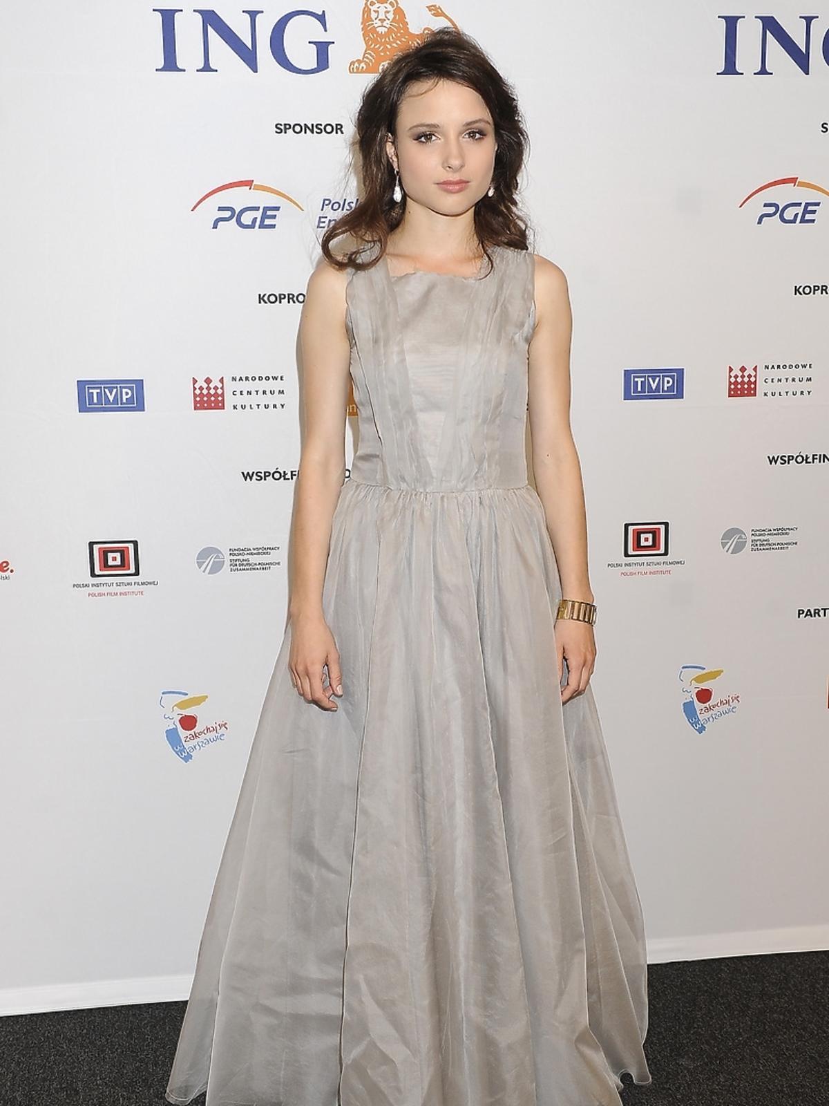 Anna Próchniak na premierze filmu Miasto 44