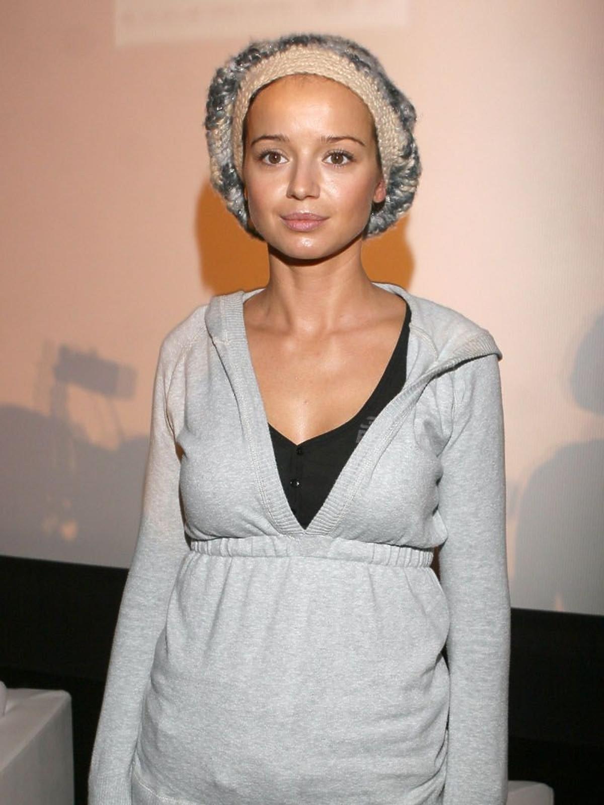 Anna Przybylska na konferencji prasowej filmu