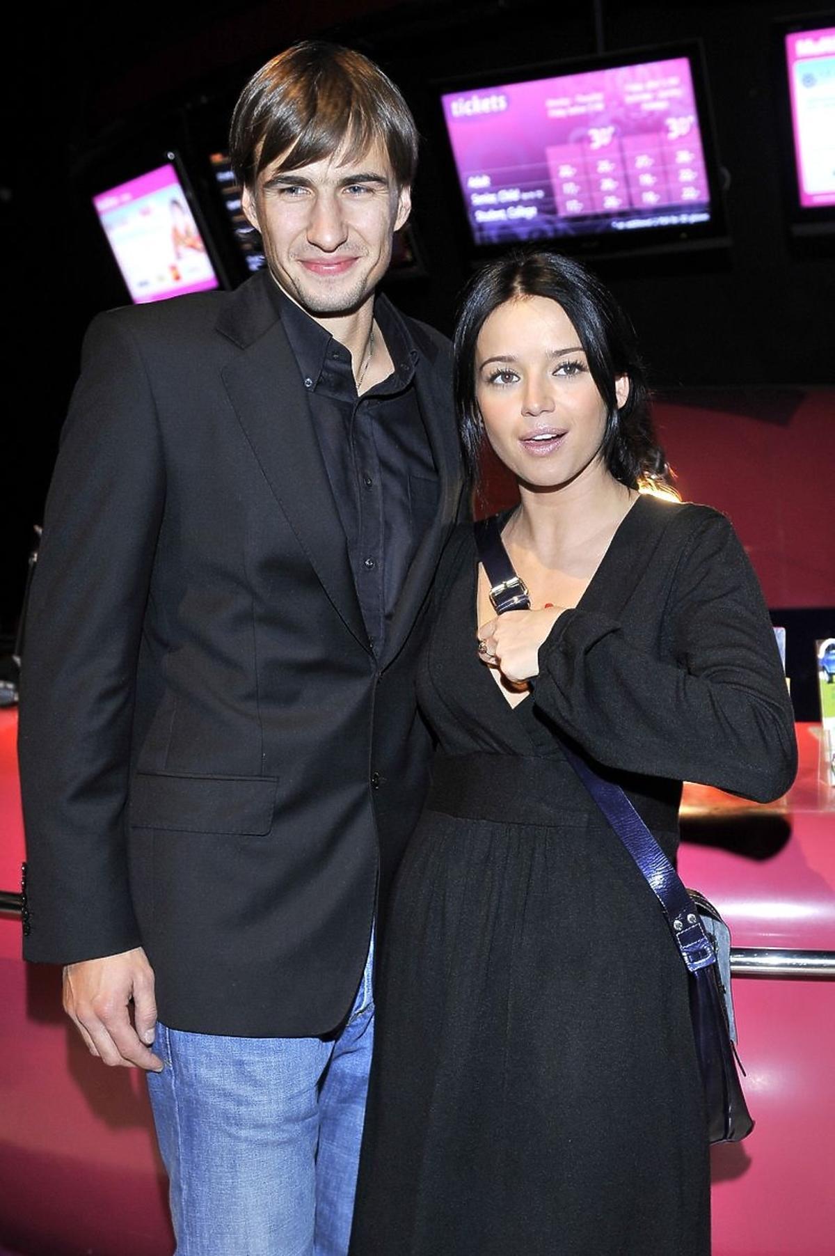 Anna Przybylska z mężem Jarosławem Bieniukiem, 2008 r.