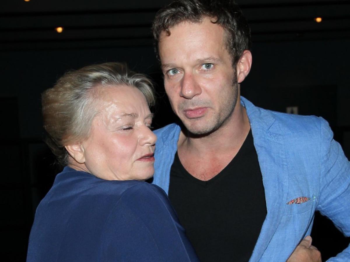 Anna Seniuk z synem, Grzegorzem Małeckim