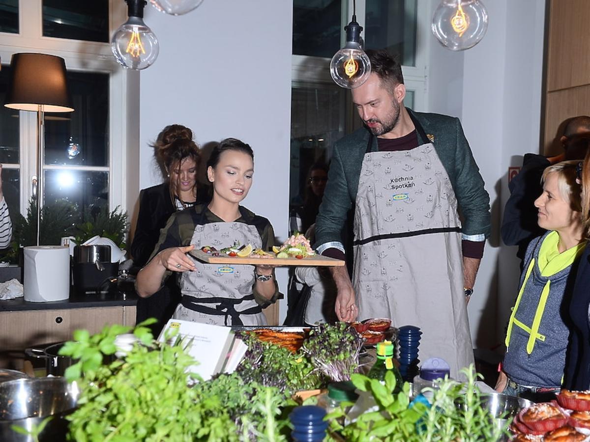 Anna Starmach i Marcin Prokop na evencie Ikei
