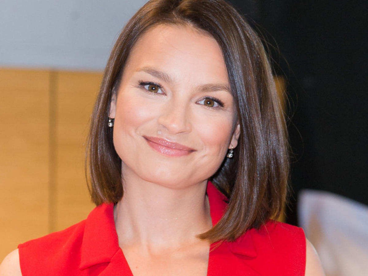 Anna Starmach w czerwonej sukience