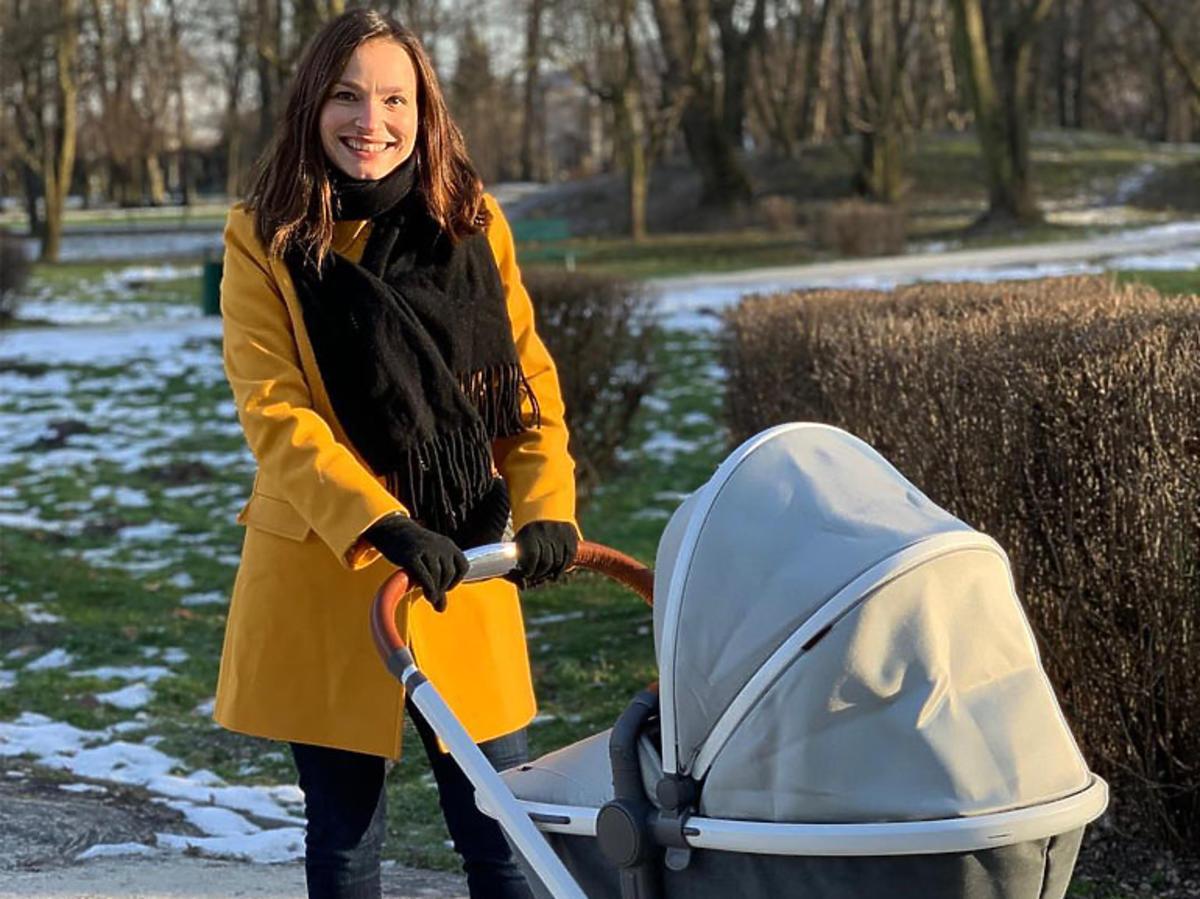 Anna Starmach z dzieckiem