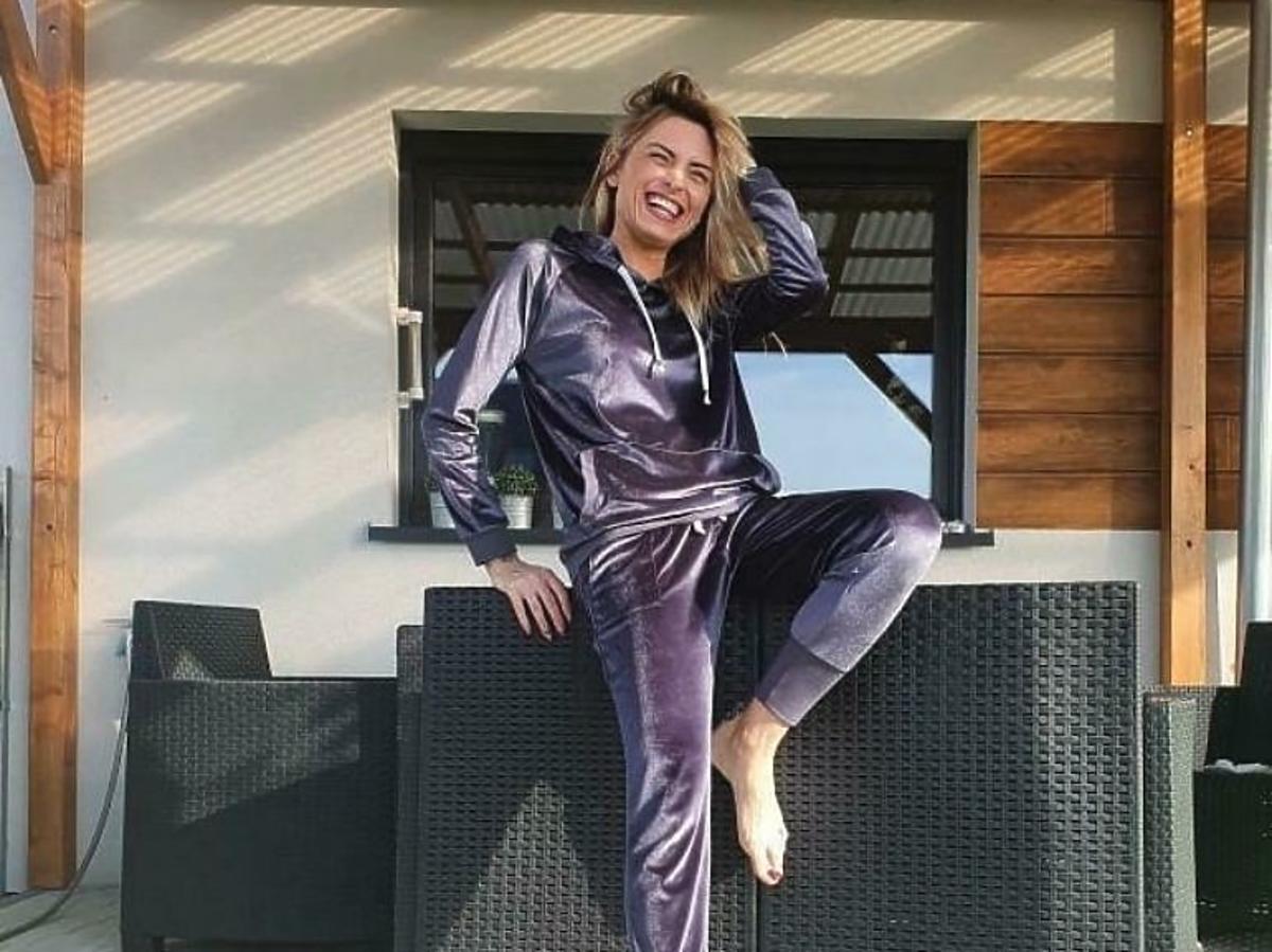 Anna Stelmaszczyk w modnym dresie