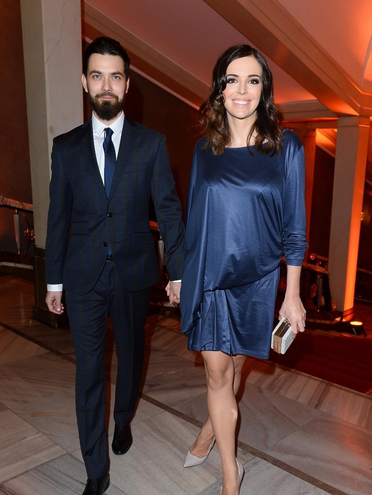 Anna Wendzikowska i Patryk Ignaczak na imprezie Flesz Fashion Night