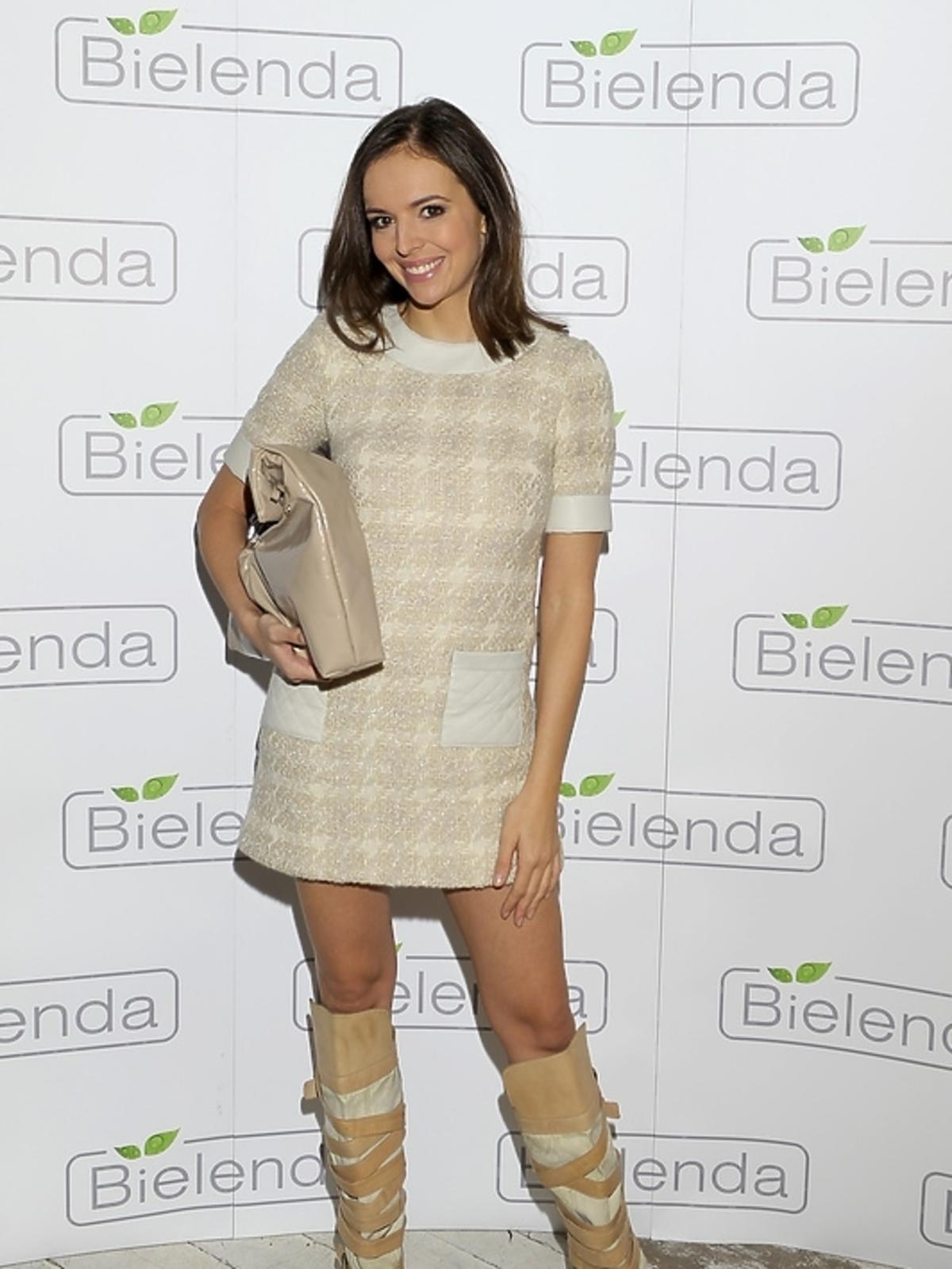 Anna Wendzikowska na prezentacji kosmetyków marki Bielenda