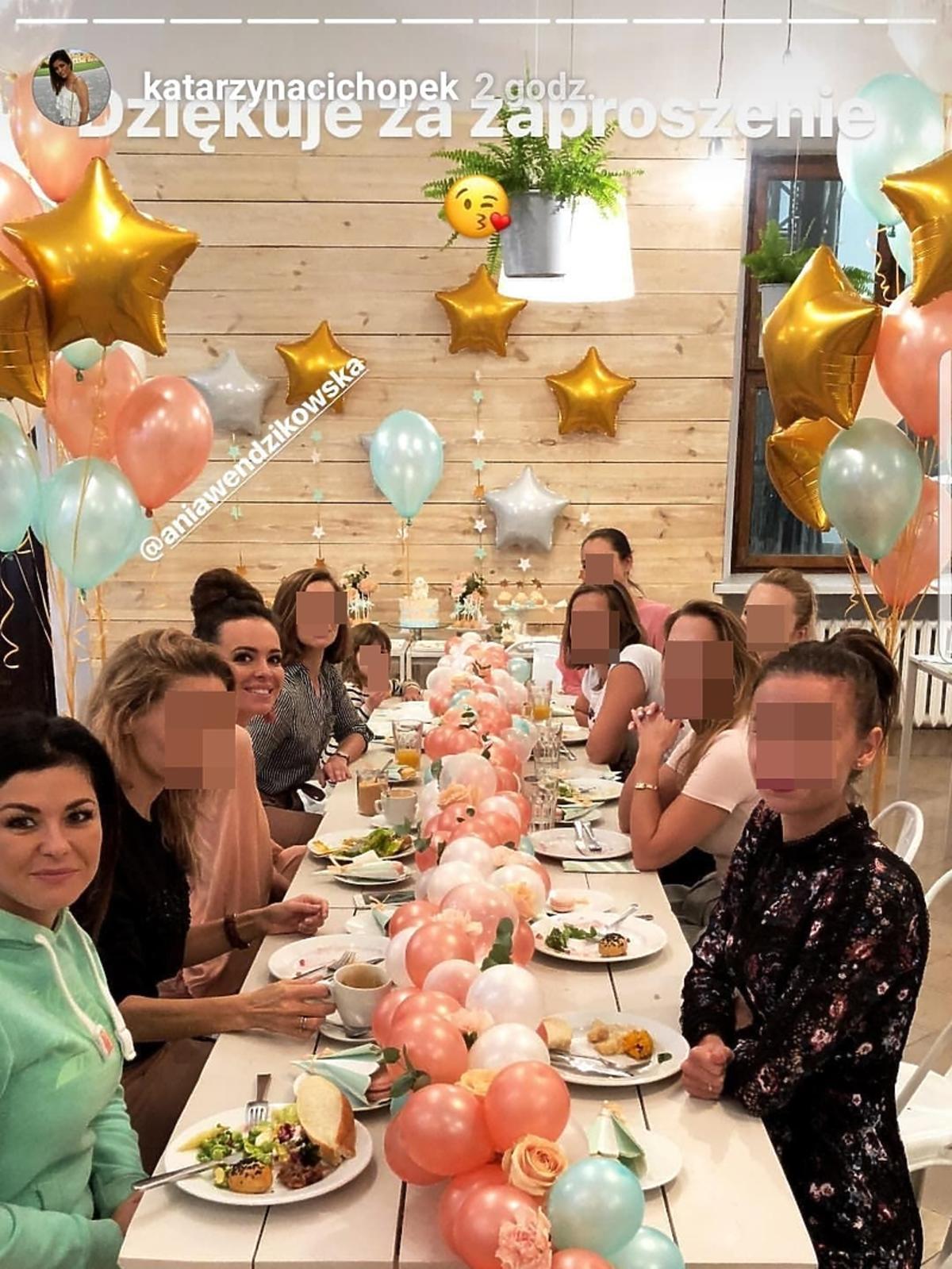 Anna Wendzikowska wyprawiła baby shower