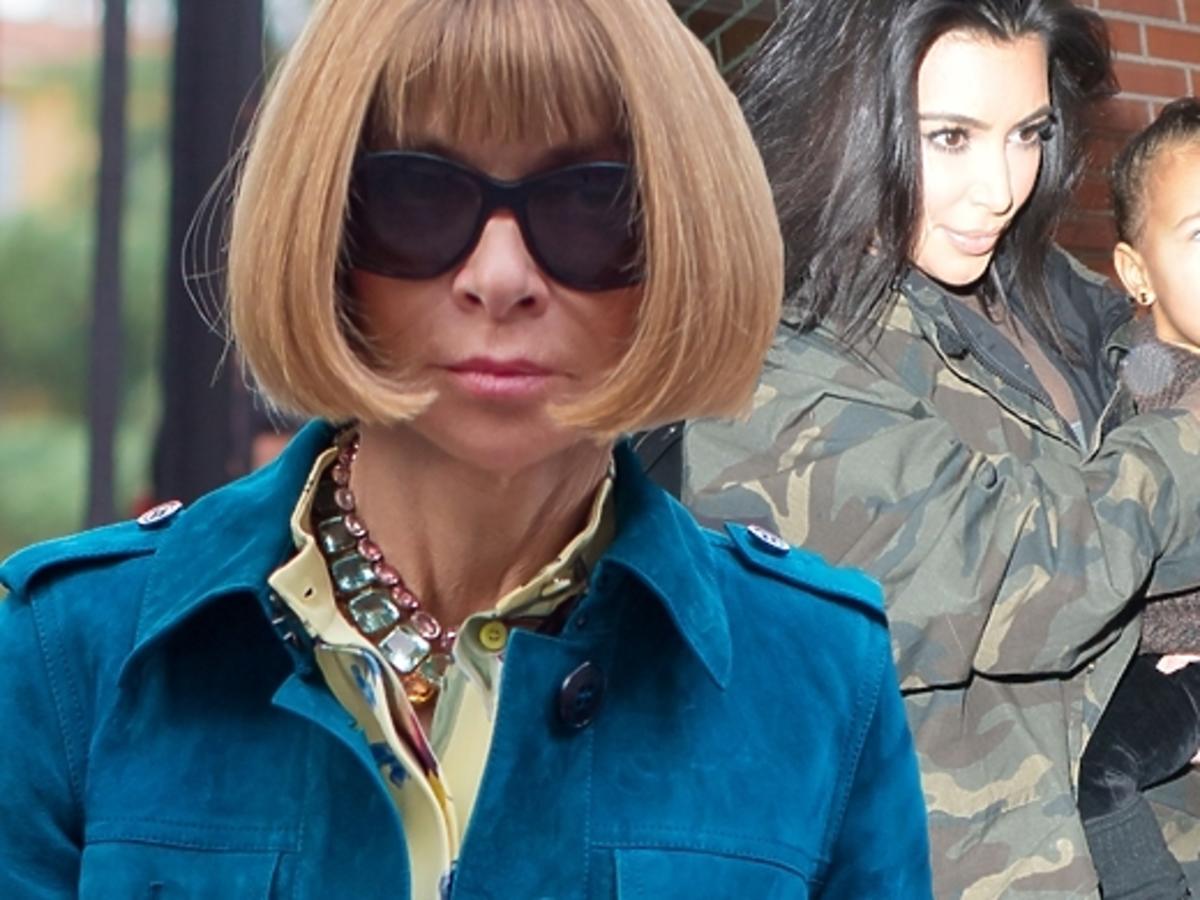 Anna Wintour skrytykowała Kim Kardashian i Kanye Westa